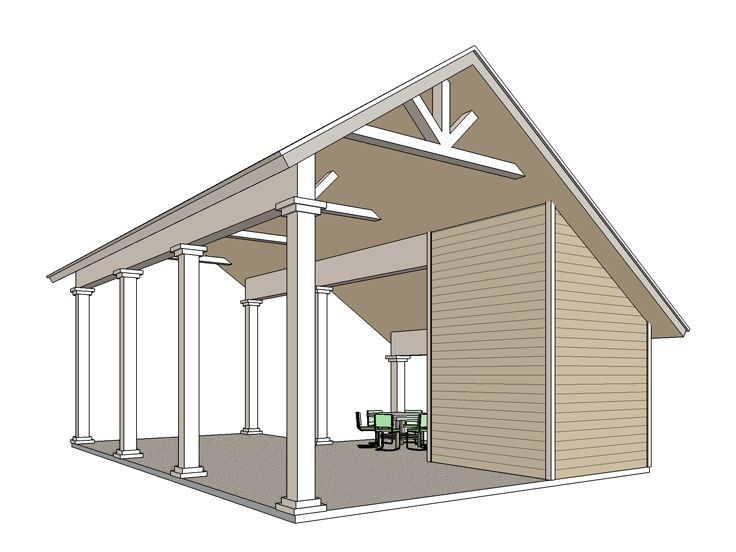 Plan 006g 0163 garage plans and garage blue prints from for Rv carport plans