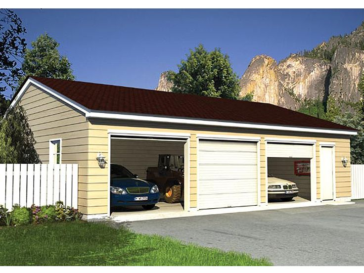 Plan 047g 0012 garage plans and garage blue prints from for 3 car garage blueprints