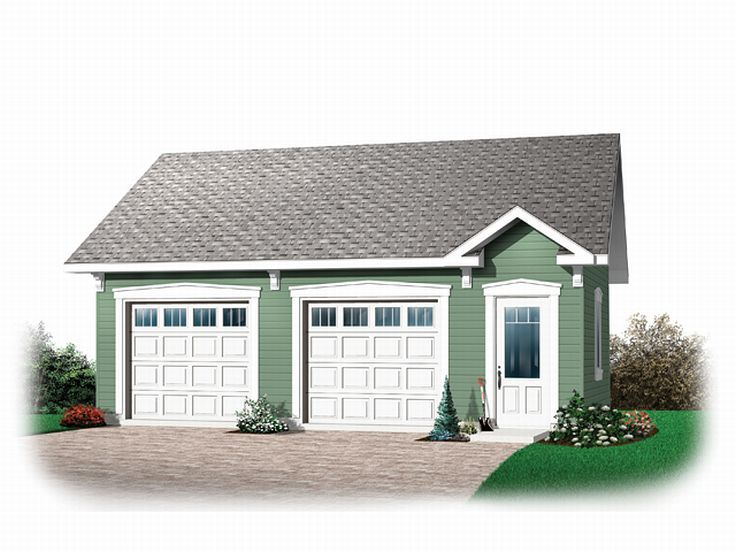 2-Car Garage Plan, 028G-0022
