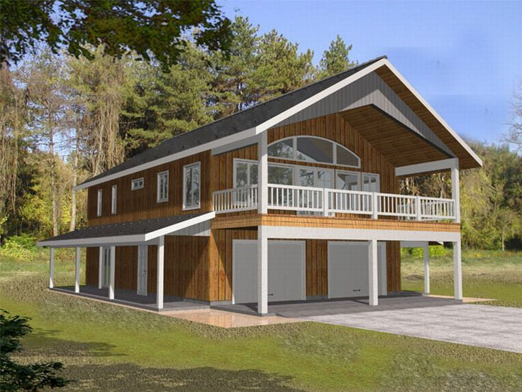 Garage apartment plans carriage house plan with 2 car for Cabin house plans with garage