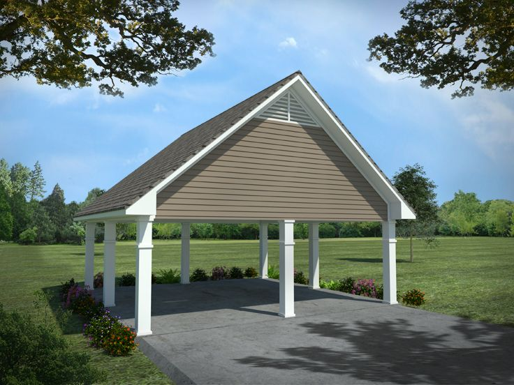 Carport plans detached 2 car carport plan 001g 0006 at for Garage with carport designs