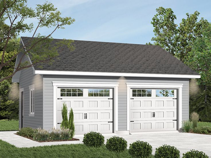 2 Car Garage Plans Detached Two, How Much Is A 2 Car Detached Garage