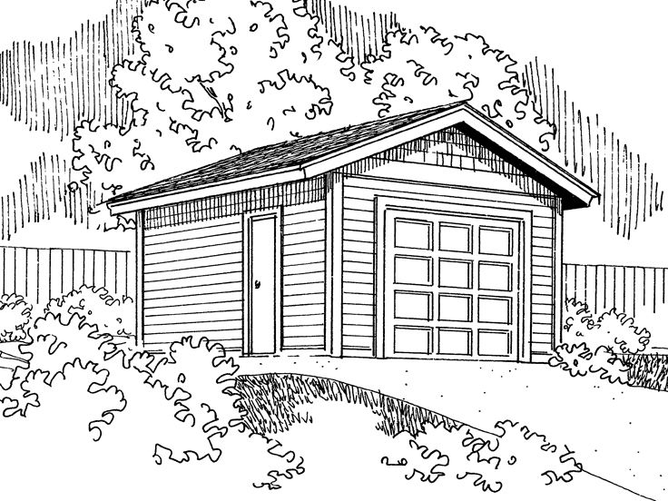 1-Car Garage Plan, 051G-0039