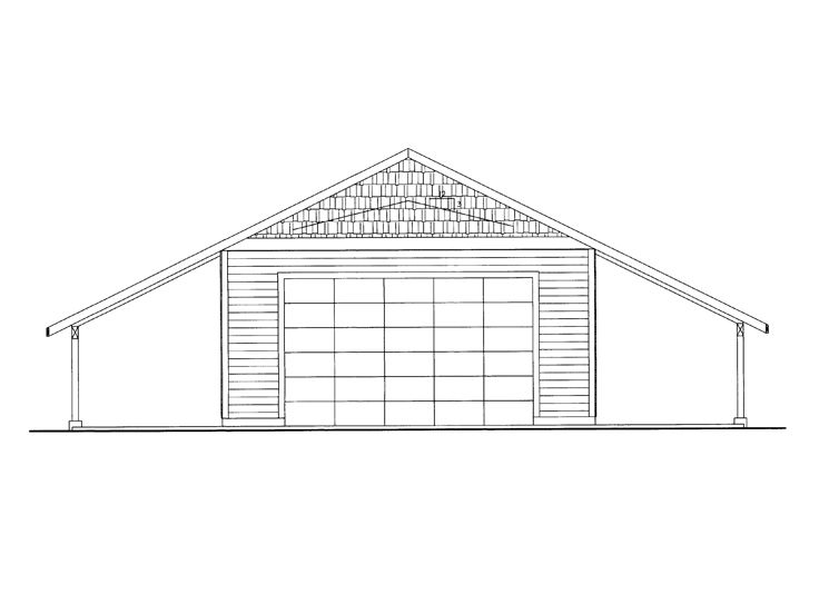 Garage Workshop Plan, 012G-0072