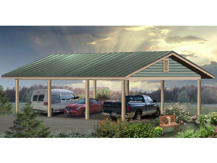 Carport Plans Oversized Carport Plan Offers Car Or Boat Storage 006g 0043 At