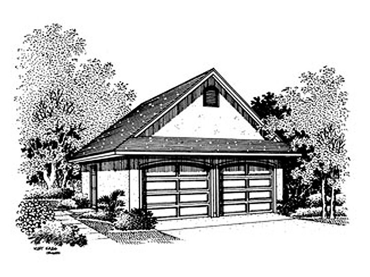 2 Car Garage Plan, 021G-0009