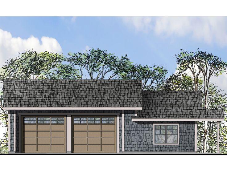 Tandem garage plans 4 car tandem garage plan with for 4 car garage plans with living quarters