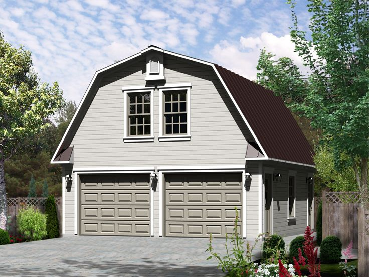 Studio Apartment Plans | Barn-Style, 2-Car Garage Apartment Plan ...