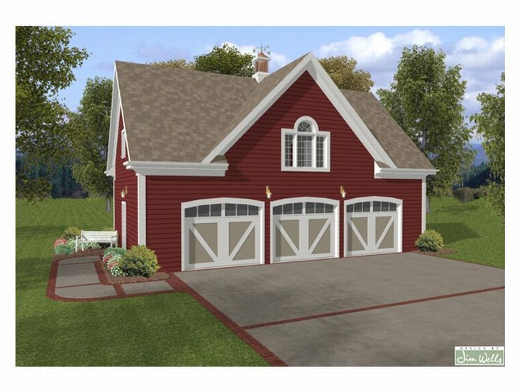 3 Car Garage With Carriage House Plan
