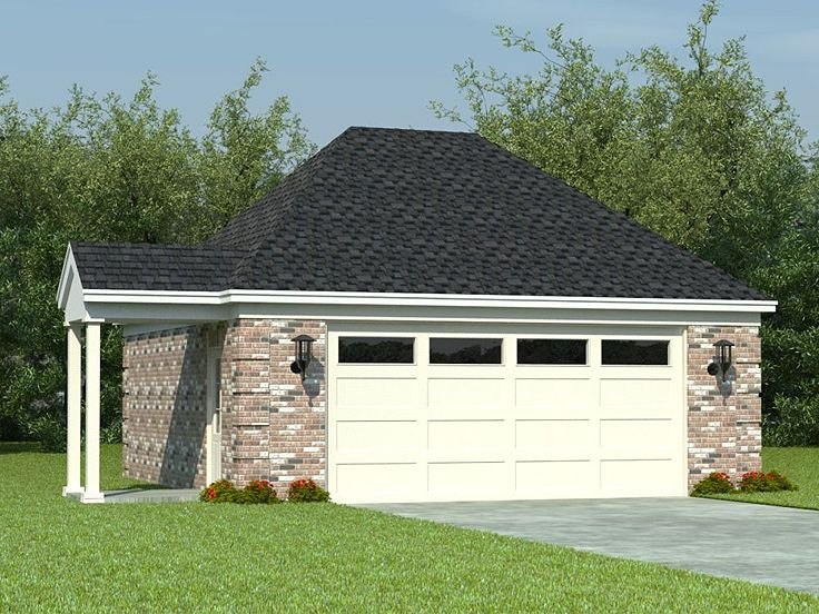 Two-Car Garage Plan, 006G-0040