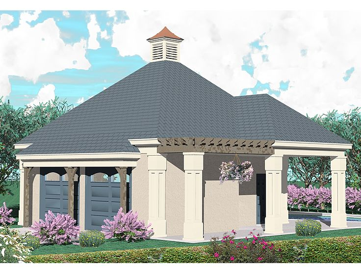 2 car garage plans two car garage plans with pool bath for Pool house plans with garage