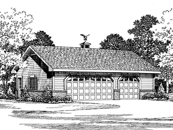 Three-Car Garage, 057G-0020