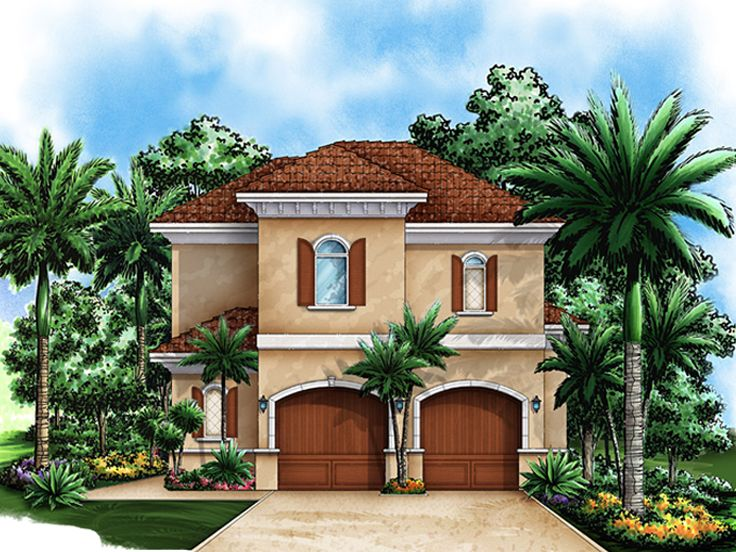 Garage Apartment Plans Florida Style 2 Car Garage: garage apartment