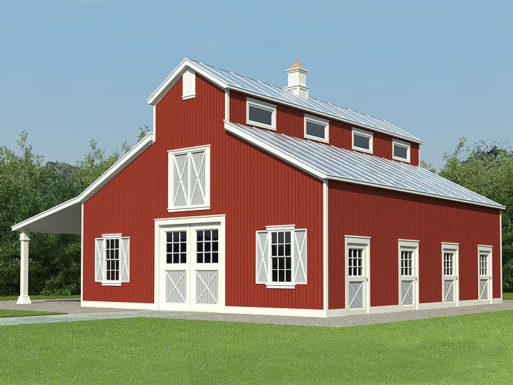 Horse barn plans horse barn outbuilding plan 006b 0001 Blueprints for barns
