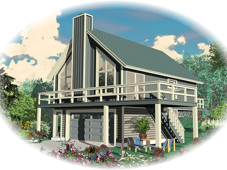 Garage apartment plans garage apartment plan or vacation for Small house over garage plans