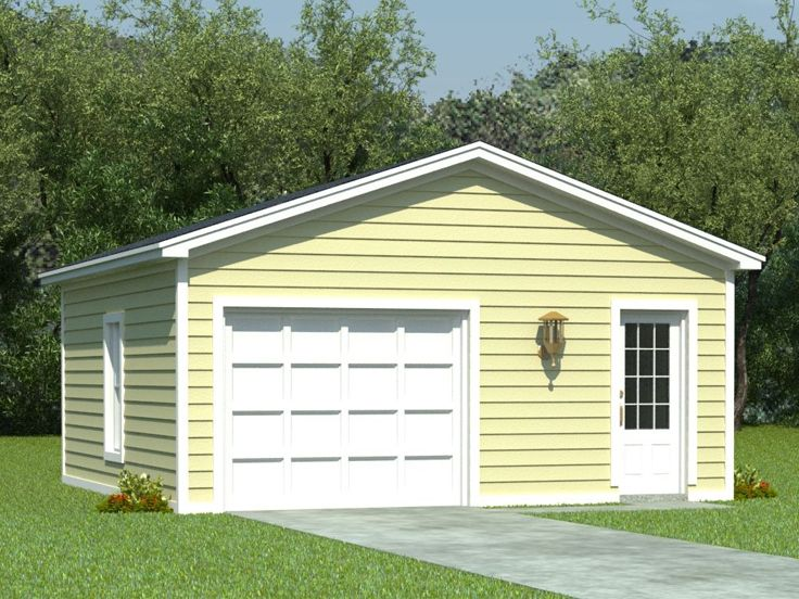 One car garage plans 1 car garage plan with storage for Single car detached garage plans