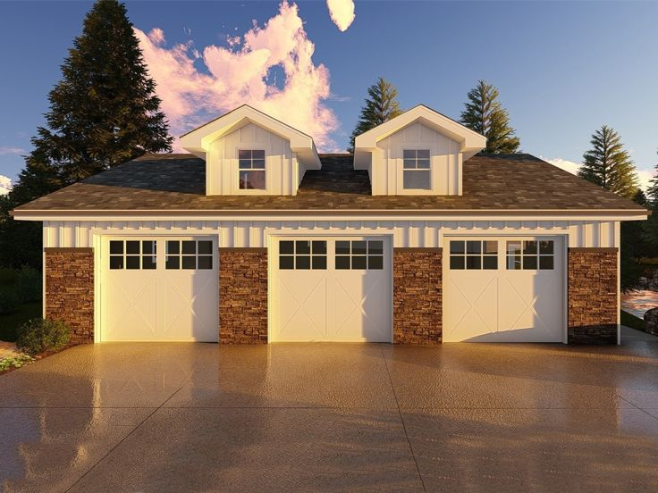 Garage Plan with Boat Storage, 050G-0076