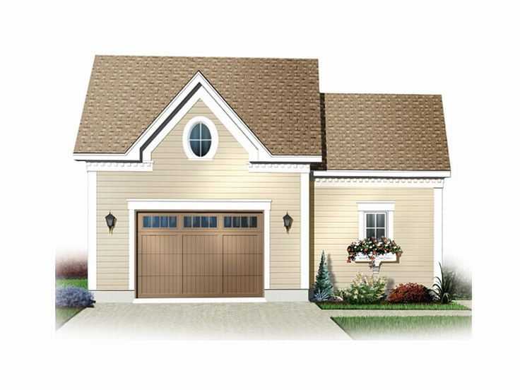 Garage plans with storage 1 car garage plan with storage for Oversized garage plans