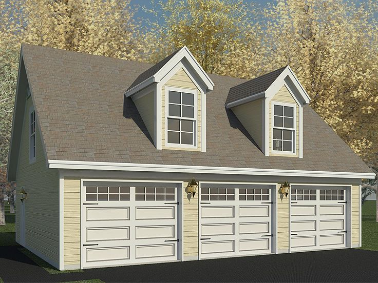 Garage workshop plans 2 car garage workshop plan 006g for Two car garage with workshop plans