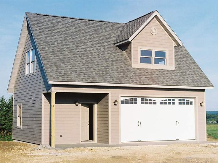 Tiny Home Designs: 2-Car Garage Workshop Plan With