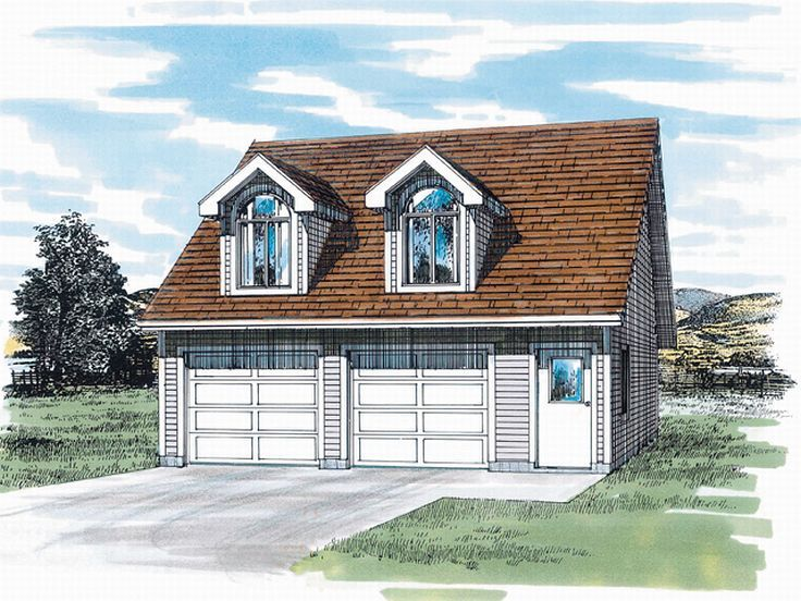 Garage Apartment Plan, 032G-0002