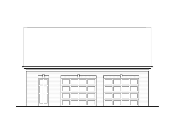 2-Car Garage Plan, 055G-0001