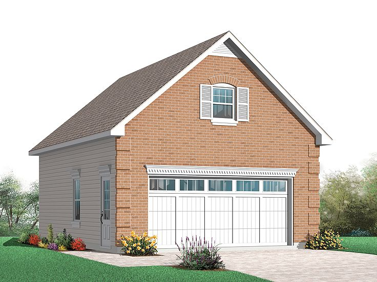 Garage loft plans detached two car garage loft plan with for Gable garage plans