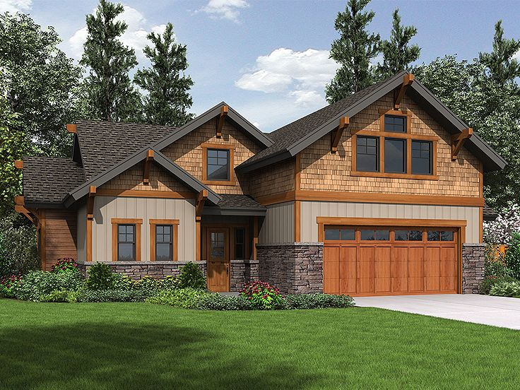 Tandem garage plans tandem garage plan with all the for Tandem garage house plans