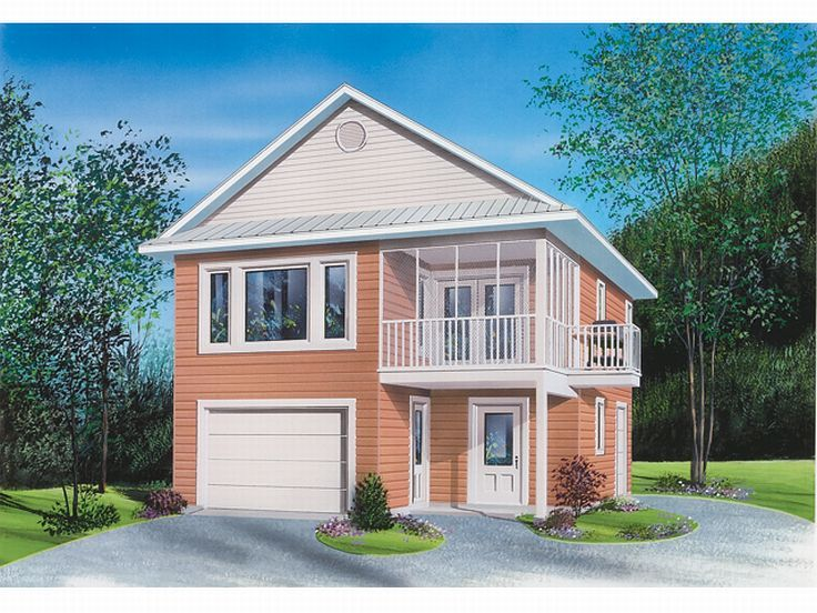 Tandem Garage House Plans: Carriage House Plan With Tandem