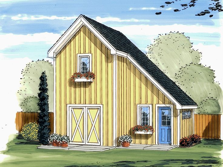 Garden Shed Plan, 050S-0008