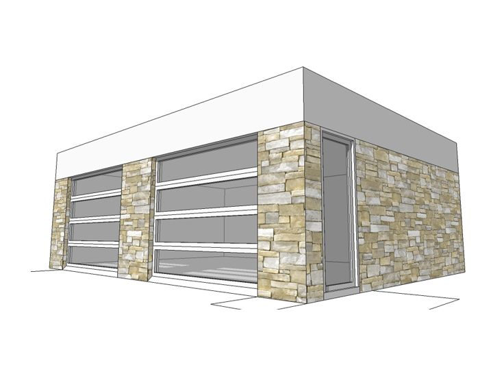 2Car Garage Plans – Flat Roof Garage Plans