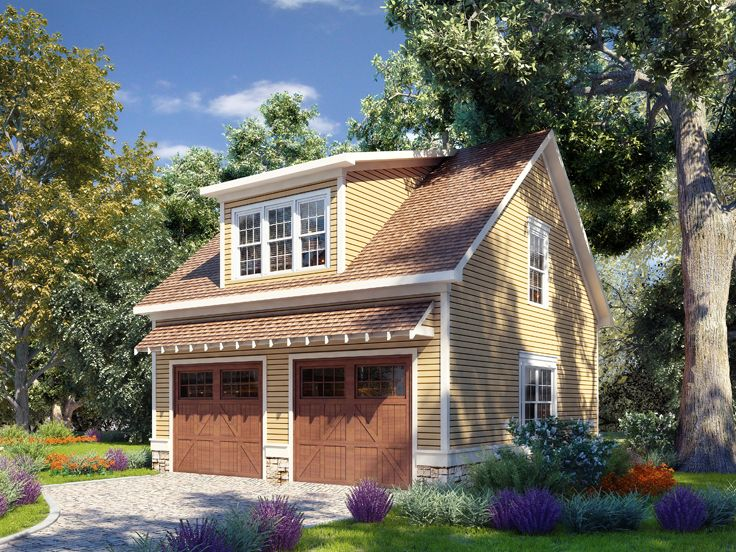 Garage plans with lofts craftsman style 2 car garage for Garage with attic