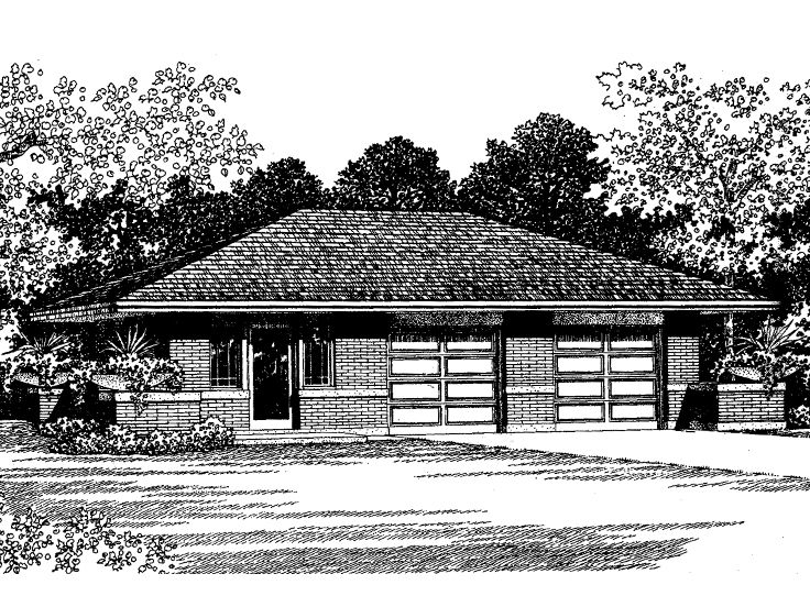 Garage apartment plans 2 car garage plan with guest for Studio above garage plans