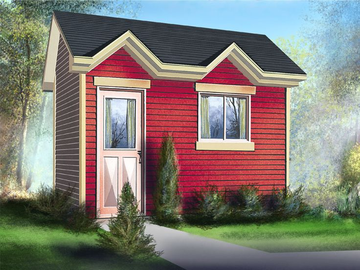 Multi-Size Utility Shed Plan, 072S-0009