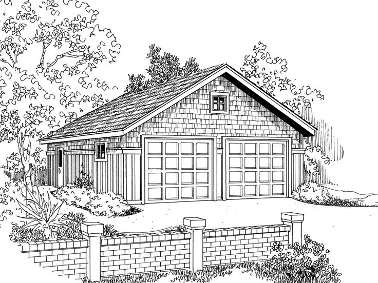 Detached Garage Plan, 051G-0003
