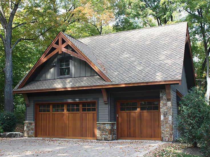 Garage Plans With Lofts Craftsman Style Garage Plan With