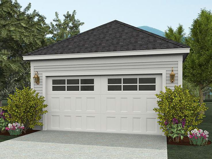 Two car garage plans detached 2 car garage design 062g for How large is a 2 car garage