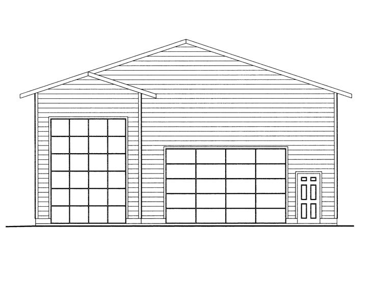 Plan 012g 0050 garage plans and garage blue prints from for 2 bay garage plans