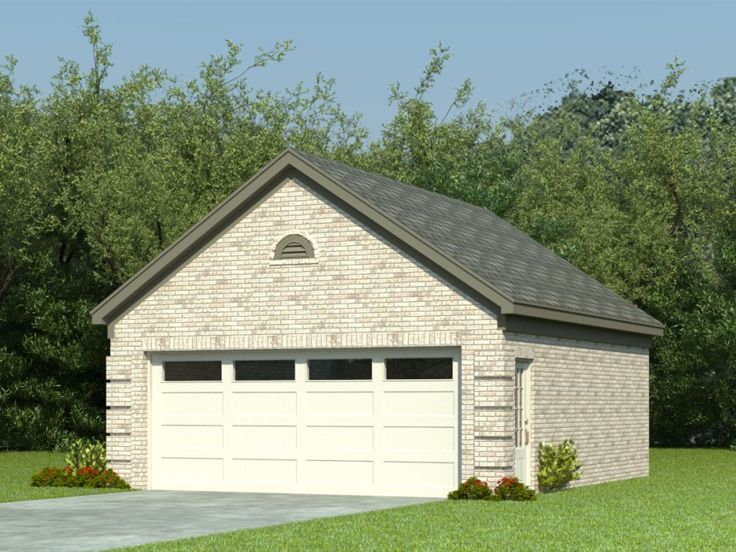 Traditional 2-Car Garage, 006G-0024