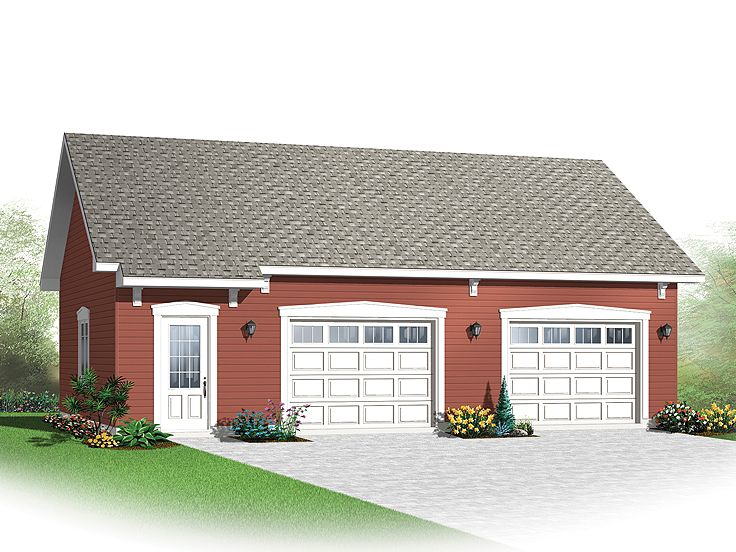 2 Car Garage Plans 2 Car Garage Plan With Storage 028g