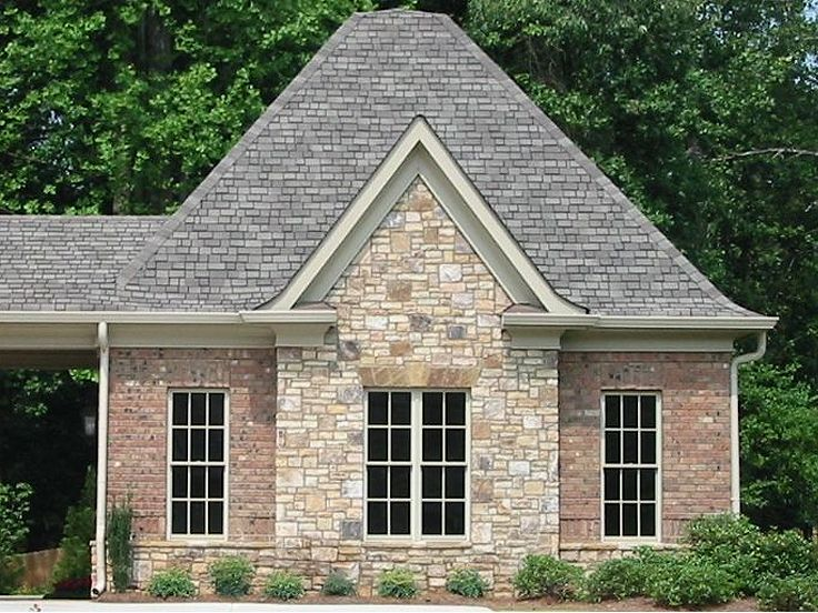 Two car garage plans 2 car garage plan with brick and for Brick carport designs