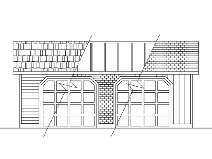 Garage Plans With Boat Storage Traditional 2 Car Garage