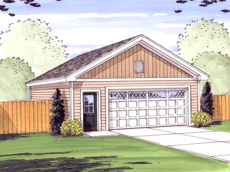 Tandem garage plans tandem garage plan with gable roof for Gable roof garage