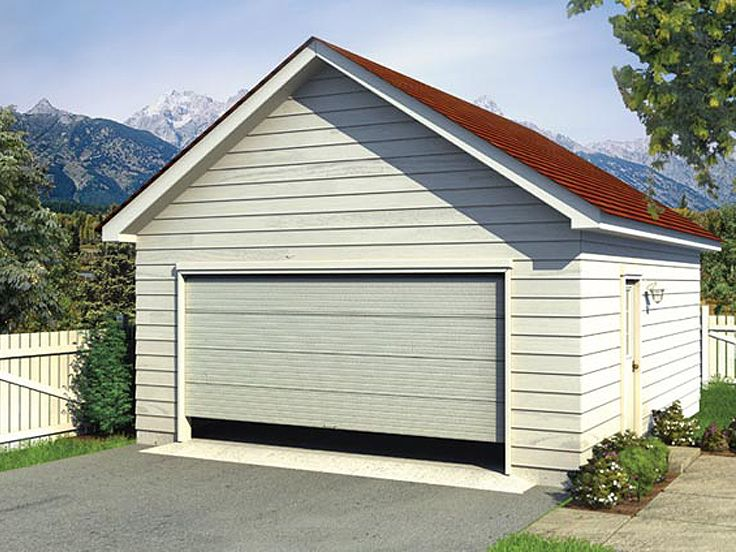 Plan 047g 0002 garage plans and garage blue prints from for Single car detached garage plans