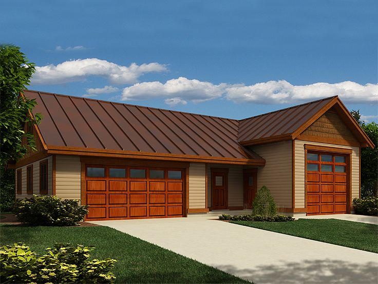 Boat storage garage plans 2 car boat storage garage plan for 2 bay garage