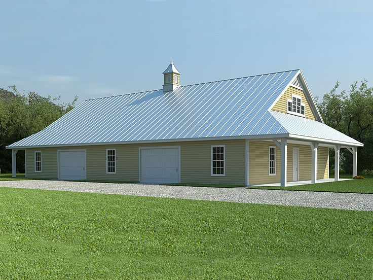 Pdf diy storage buildings plans with living quarters for Large barn plans