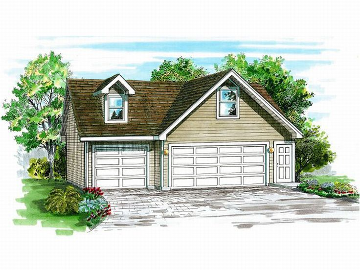 3 car garage plans detached three car garage plan with for Garage plans with loft