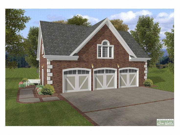 Garage apartment plans 3 car garage apartment plan with for Large garage plans