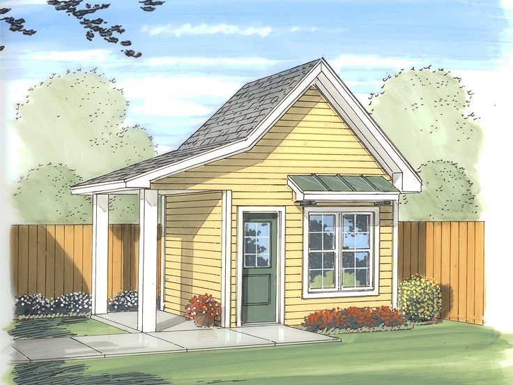 Backyard Shed Plan, 050S-0002