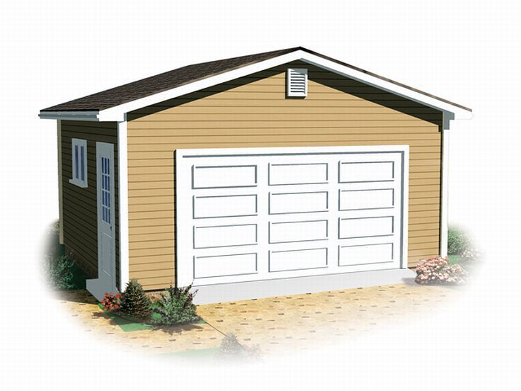 2 Car Garage Plan, 028G-0025